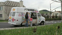 Ice Cream Truck Stock Footage