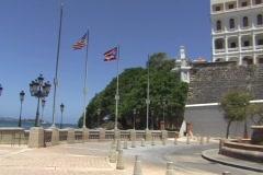 Puerto Rico - Old San Juan - Carmelitas Convent - La Princesa Stock Footage