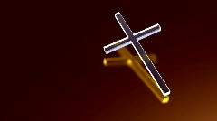130 Cross crystal crucifix jesus Stock Footage