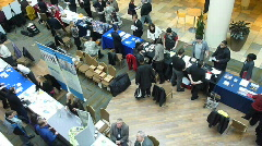 Convention at Mall Time Lapse Stock Footage