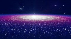 Galaxy Horizon Background - stock footage