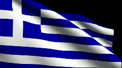 Flag of Greece Stock Footage