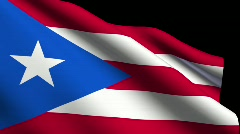 Flag of puerto rico Stock Footage