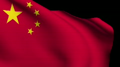 Flag of China Stock Footage