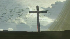 Worship Bible Cross Background - stock footage