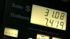 Gas Price Fraud Stock Footage