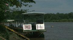 River Boats Lush Jungle Costa Rica Tarcoles River 01 Stock Footage