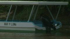 River Boats Lush Jungle Costa Rica Tarcoles River 03 Stock Footage