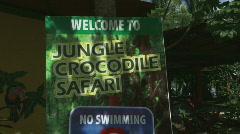 Crocodile Safari Costa Rica Tarcoles River 01 Stock Footage