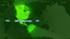 Digital Earth loop (HD PAL) Stock Footage