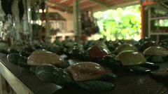 Costa Rica Tourism Gift Shop Merchandise Tarcoles River 04 Stock Footage