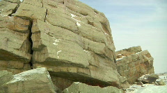 This Big Rock is the Largest Glacial Erratic in the World Stock Footage