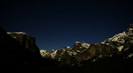 Stock Video Footage of Yosemite Valley Night Time Lapse 2