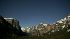 Yosemite Valley full moon timelapse Stock Footage
