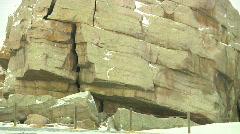 Big Rock Okotoks Glacial Erratic Mass Boulder in the Prairies Stock Footage