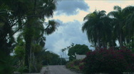 Stock Video Footage of Botanical Garden Entryway Time Lapse - Dominican Rep.