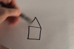 We draw the house Stock Footage