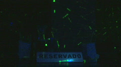 Reserved Sign - Dominican Club - 14 Stock Footage