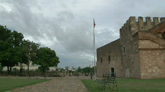 Dominican Flag Lowered - Historic Ceremony Stock Footage