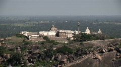 Spiritual Pilgrims Near the Top of Shravanabelagola Stock Footage