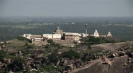 Stock Video Footage of Spiritual Pilgrims Near the Top of Shravanabelagola