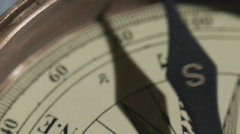 Stock Video Footage old mariner's compass Stock Footage