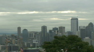 Cloudy Seattle morning - pan (1 of 4) Stock Footage