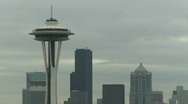 Stock Video Footage of Seattle's Space Needle early morning (1 of 2)