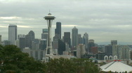 Stock Video Footage of Cloudy Seattle morning