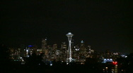 Stock Video Footage of Downtown Seattle evening - slow zoom in