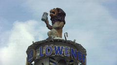 Munich Oktoberfest Lion Stock Footage