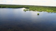 Stock Video Footage of Biscayne Bay Mangroves Aerial