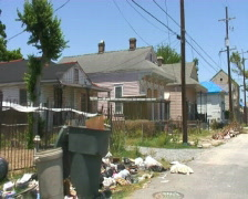 Hurricane Katrina Storm Damage in New Orleans - Drive BY - stock footage