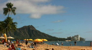 Stock Video Footage of  Waikiki Beach