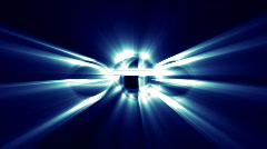 Abstract Magic Lights Loop 1 blue Stock Footage