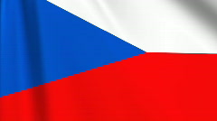 Stock Video Footage of Czech Republic Flag Loop 03