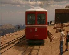 Pikes Peak Colorado Cog Railway & Scenic Overlook PT1 Stock Footage