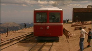Pikes Peak Colorado Cog Railway & Scenic Overlook PT1 Stock Footage