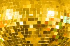 Disco Ball. Gold. - stock footage