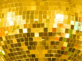 Stock Video Footage of Disco Ball. Gold.