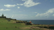 Puerto Rico Historic Fort Park - 01 Stock Footage