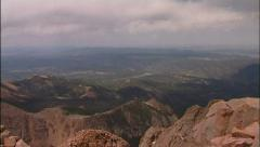 Pikes Peak Colorado Cog Railway & Scenic Overlook PT2 Stock Footage