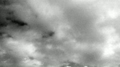 BW Clouds toward camera - stock footage