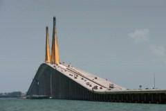 Sunshine Skyway in St Petersburg Florida Stock Footage