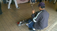 Stock Video Footage of Street Performer (2 of 5)