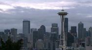 Windy Seattle skyline - time lapse Stock Footage