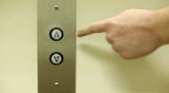 Up Arrow on Elevator Pressed Stock Footage