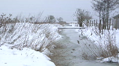Winter at the Coast in Germany 03 Stock Footage