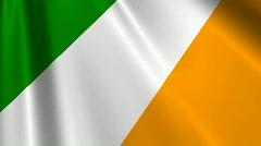 Ireland Flag Loop 03 Stock Footage
