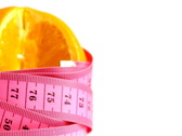 Tape measure wrapped around rotating orange, loopable Stock Footage